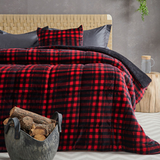 Κουβερτοπάπλωμα Flannel Fleece, Palamaiki Check Red